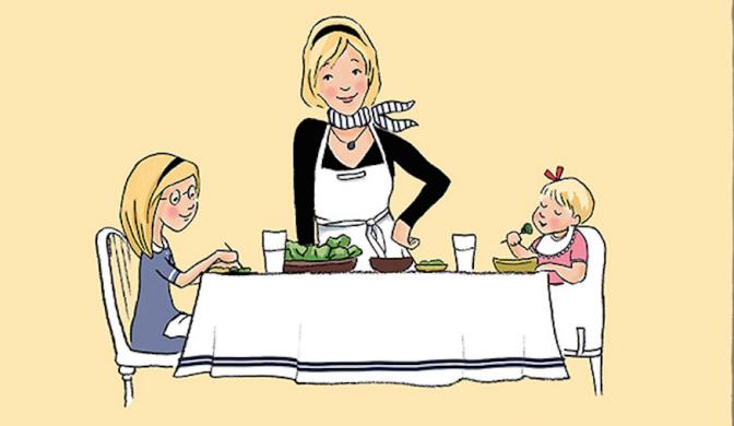 Crianças Francesas comem de tudo